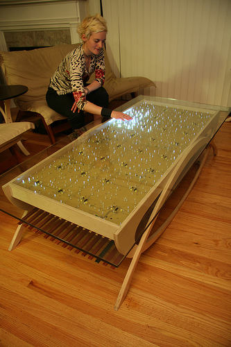 Make your own interactive led dining table coffee table for Make your own coffee table